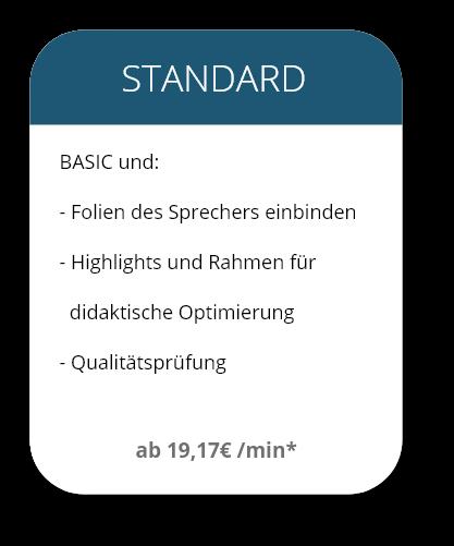 Leistungspaket 2 Standard