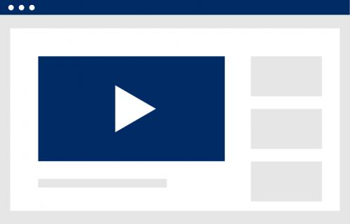 Bild zeigt einen Browser in welchem ein Video abgespielt wird